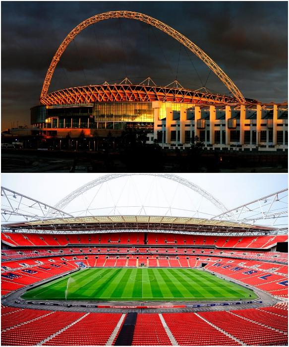 Во время соревнований или концертов на трибунах стадиона можно разместить 90 тыс. зрителей/фанатов. | Фото: telegraf.com.ua/ tournavigator.pro.