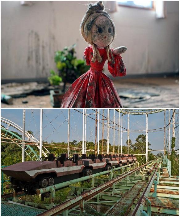 Почти 20 лет  тематический парк развлечений Gulliver's Travels Park стоит заброшен, постепенно разрушаясь (Япония). | Фото: ru.esosedi.org/ pixel.in.ua.
