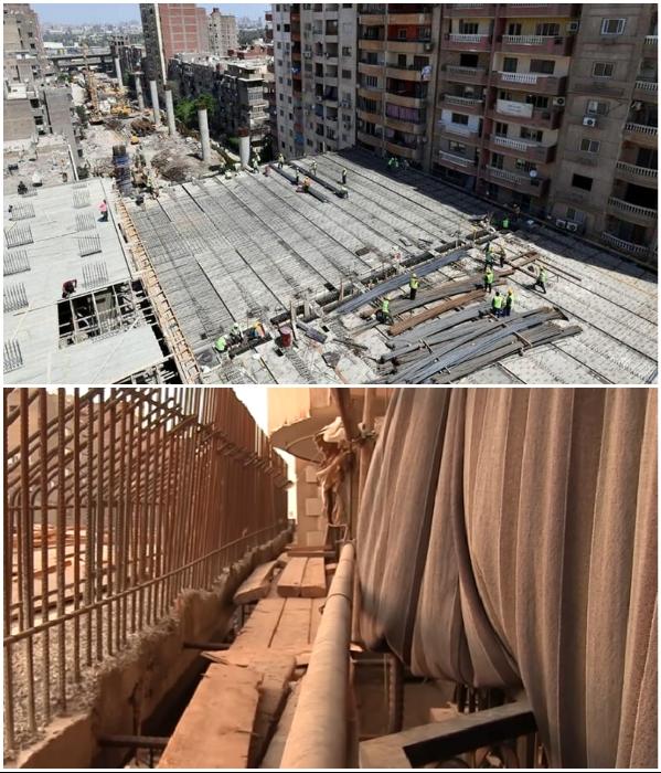 Столь важную транспортную артерию так бездарно спроектировали («Teraet Al-Zomor Bridge», Египет). | Фото: dymontiger.livejournal.com/ youtube.com, @ ElWatan News.