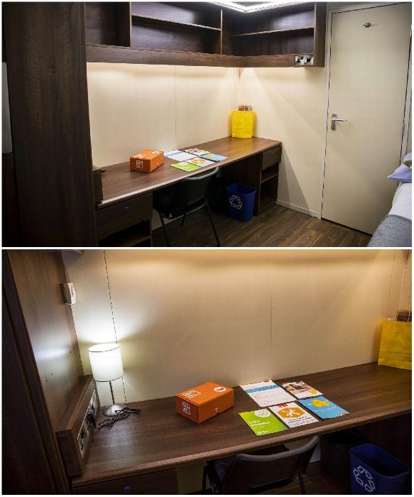 Рабочий уголок в студенческом общежитии Бристольского университета. | Фото: bristolpost.co.uk.