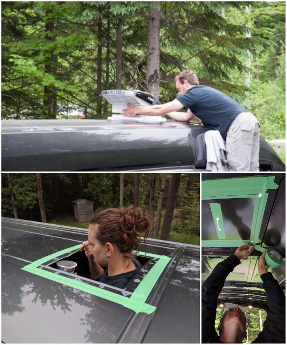 На крыше автофургона установили мощный вентилятор, чтобы внутри всегда был свежий воздух. | Фото: faroutride.com.