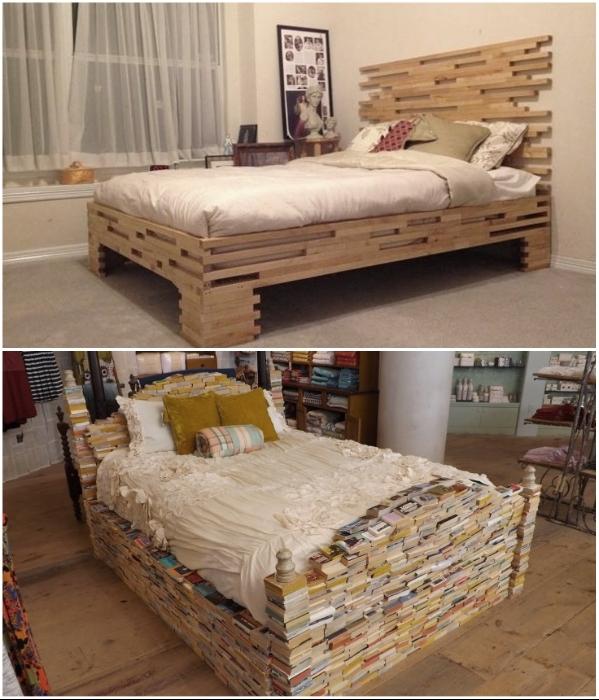 Оригинальную кровать можно сделать и собственными руками. | Фото: krrot.net/ sdelajrukami.ru.