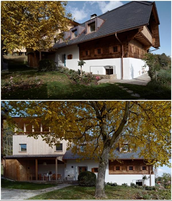 Старый фермерский домик подвергли полной реконструкции, чтобы создать современный дом (Грац, Австрия). | Фото: etoday.ru.