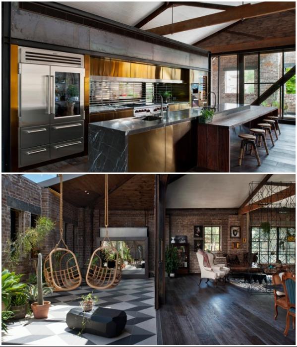 Дизайн преображенного склада получился домашний и привлекательный, хотя и сохраняет некоторые детали индустриального стиля (Сидней, Австралия). | Фото: happymodern.ru.