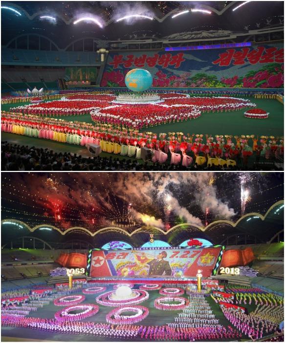 На стадионе «Первого Мая» в Пхеньяне проходит самый грандиозный фестиваль мира («Ариран», Северная Корея). | Фото: com/ reporter-ua.com.