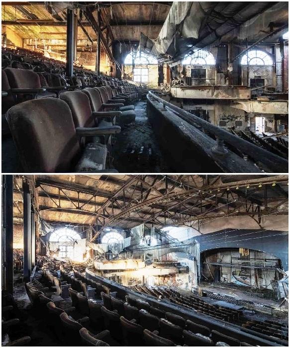 Театр «Два в одном» превратился в жалкое зрелище. | Фото: obsidianurbexphotography.com.