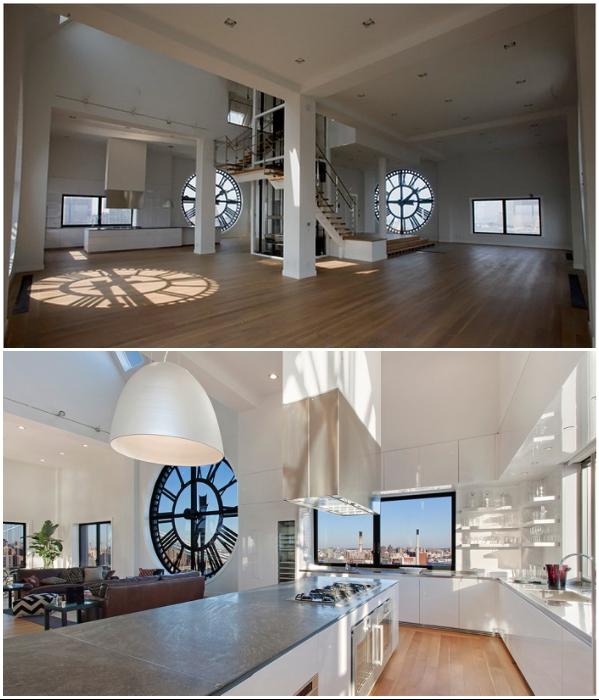 Кухня огромных размеров под стать самой жилой резиденции (Часовая башня, Манхэттен). | Фото: redeveloper.ru.