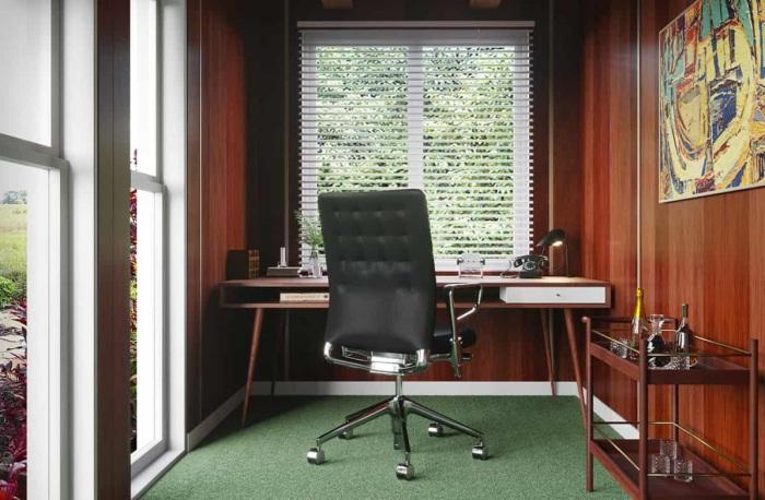 Don Draper's Office больше похож на кабинет Клуба джентльменов нежели на рабочее пространство. | Фото: householdquotes.co.uk.