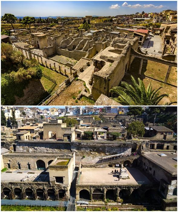Древний город Геркуланум признан объектом Всемирного наследия ЮНЕСКО (Италия).