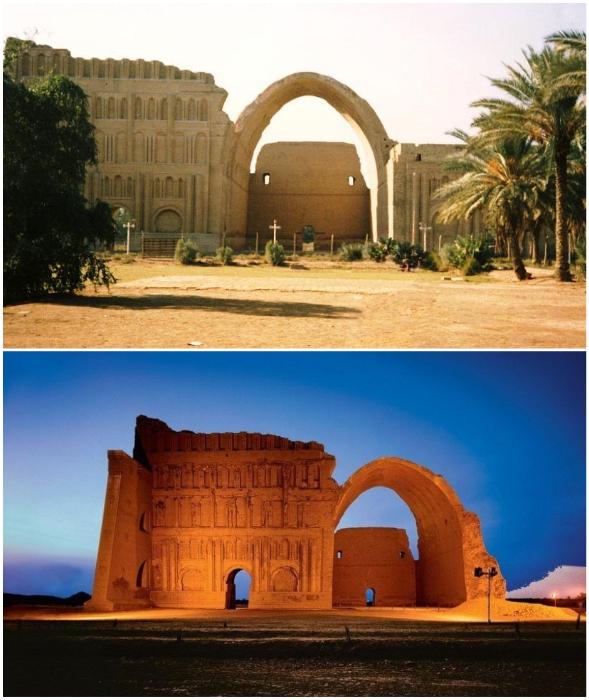 Древний город Ктесифон расположен на берегу Тигра (Ирак).