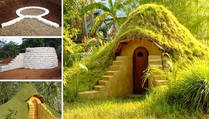 Такой маленький дом украсит любой дачный участок.