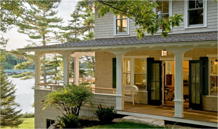 Очаровательный французский стиль идеально подойдет для больших загородных домов. | Фото: votremaisonsurson36.com.