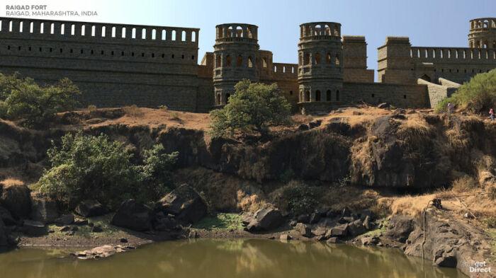 Цифровая копия некогда могучего форта Райгард (Индия). | Фото: viagens.sapo.pt.
