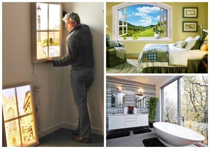 Фальш-окно преобразит интерьер любого помещения.