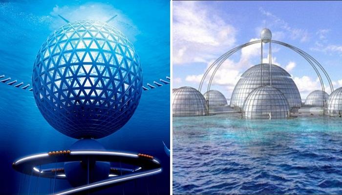 Концепты подводных городов будущего.