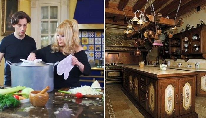 Для многих российских звезд, кухня – самое любимое место в их огромных замках и особняках.