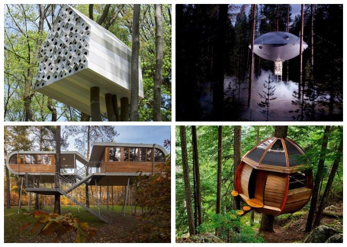Сказочные домики на дереве.