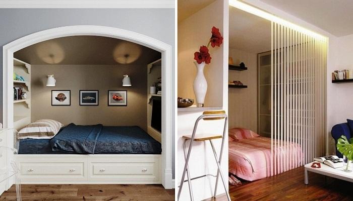 Спальное место в нише – идеальный вариант создания особого комфорта и уединения в малогабаритных квартирах.