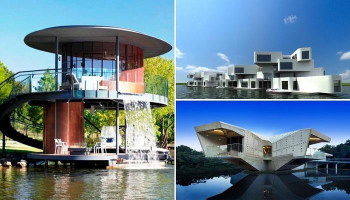 Самые удивительные плавучие дома мира (США, Голландия, Австралия).