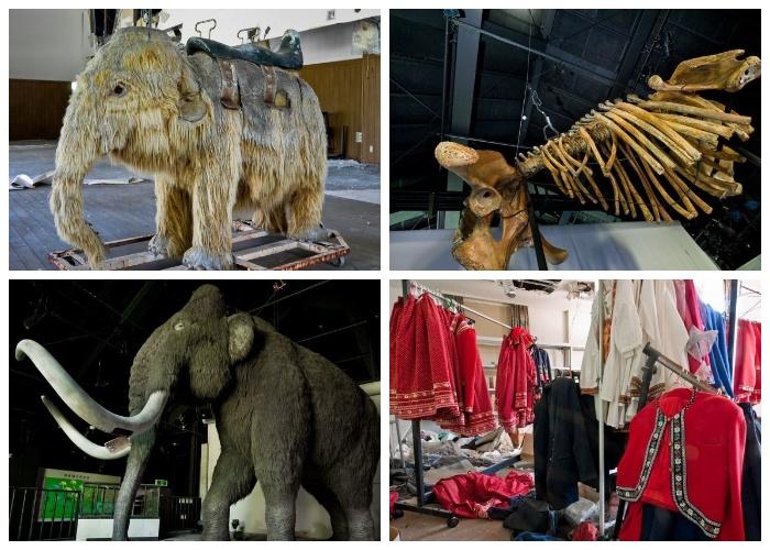 Все что осталось от экспонатов музея и цирка (Тематический парк «Русская деревня», Япония).