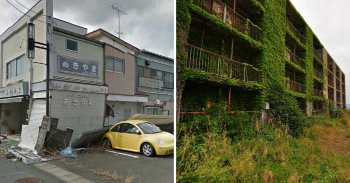 Заброшенный город Намиэ и остров-призрак Икешима (Япония).