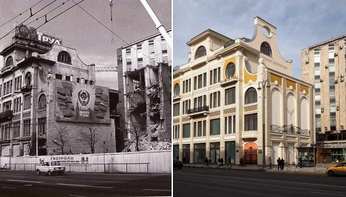 «Конторский дом Сытина» в Москве был передвинут с помощью уникальной технологии.