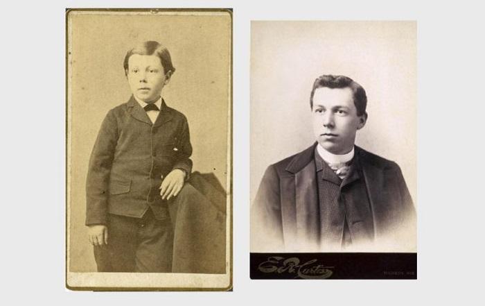 Фрэнк Ллойд Райт в детстве и молодости.