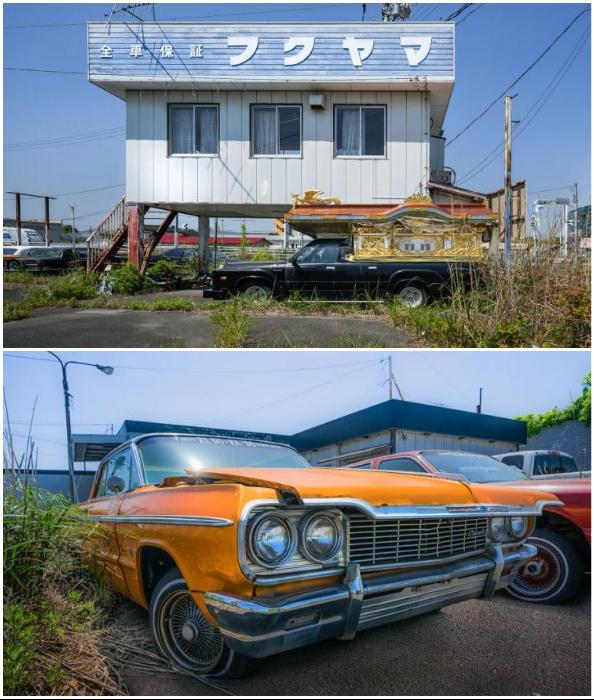 Остались покинутыми и катафалки, и коллекционные автомобили (Фукусима, Япония). | Фото: © Джанин Пендлтон.