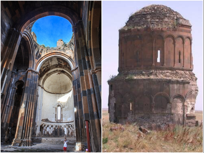 Руины «Города тысячи храмов» (Ани, Турция).