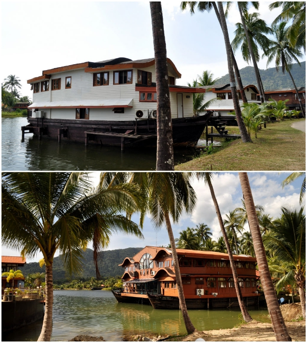 Еще недавно здесь носились толпы отдыхающих, а теперь голубая лагуна навевает лишь тоску (Grand Lagoona Koh Chang Resort, Таиланд).