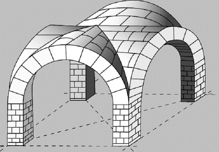 При строительстве радиусного перекрытия нужно создать проект. | Фото: blog-potolok.ru.