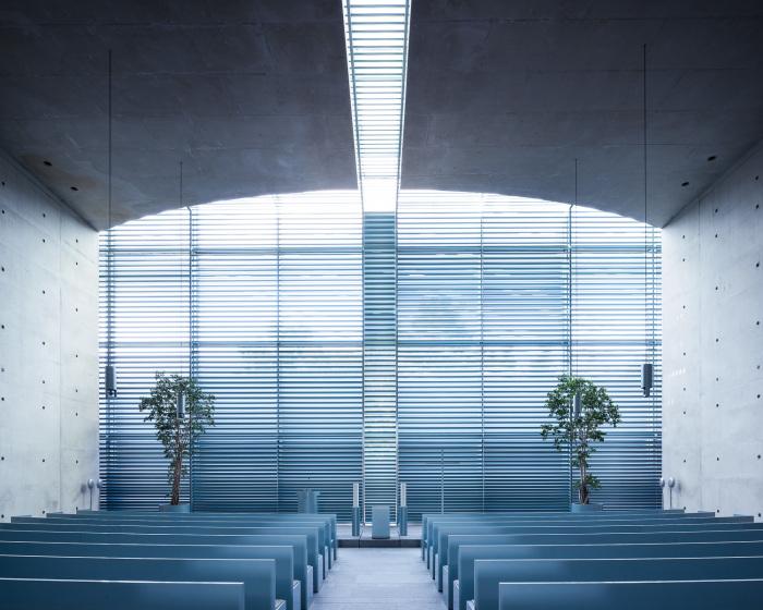 Простота и воздушность – отличительная черта интерьера Церкви Святого Николая в Берлине (Германия). | Фото: ©Thibaud Poirier.