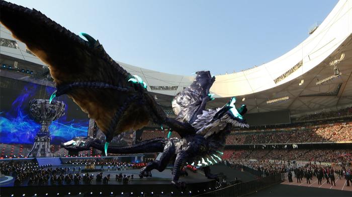 Церемония открытия чемпионата мира по League of Legends (Национальный стадион Пекина, 2017). | Фото: nexus.leagueoflegends.com.