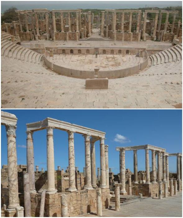 Leptis Magna – древний город на побережье Средиземного моря (Ливия).