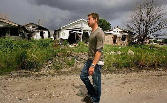 Все что осталось от района Лоуэр Нинт Ярд после разрушительного урагана (Новый Орлеан, США).