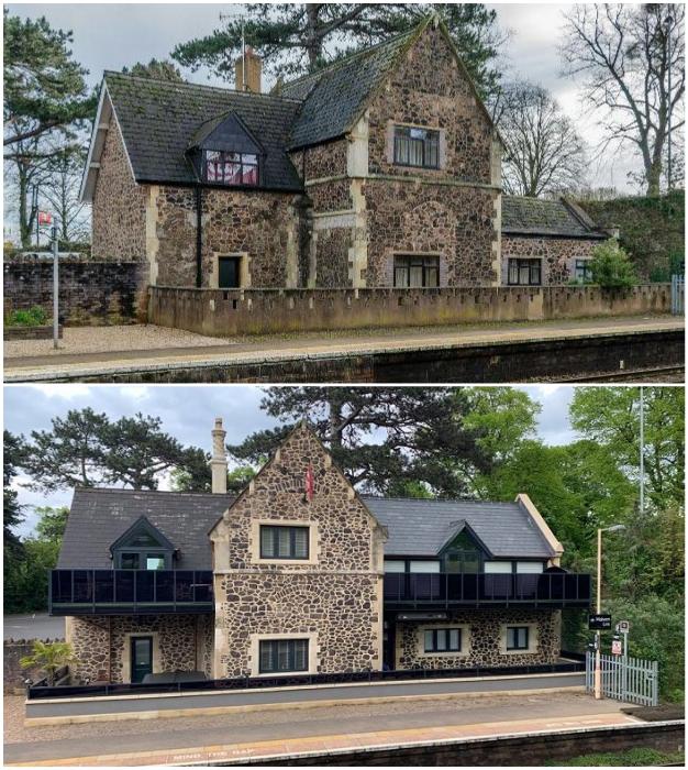 Понадобилось 4 года, чтобы старинный коттедж начальника станции превратился в гостевой дом Platform Three (Malvern Link, Великобритания).