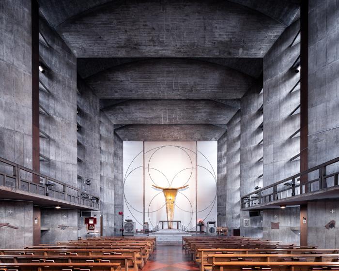 Церковь Святого Ансельма, Токио, Япония (Antonin Raymond, 1954). | Фото: ©Thibaud Poirier.