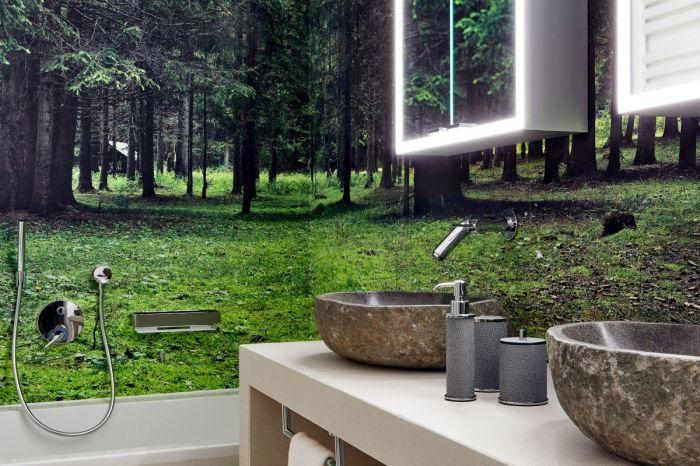 Оригинальное оформление ванной комнаты (курорт La Villa, Mi Chalet). | Фото: homeadore.com/ © Luca Visciani.