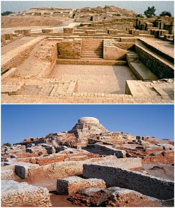 Древний город Mohenjo Daro расположен на возвышенности в современном районе Ларкана провинции Синд (Пакистан).
