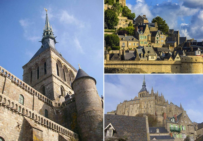 Удивительная архитектура Mont Saint-Michel сохранилась до наших дней.
