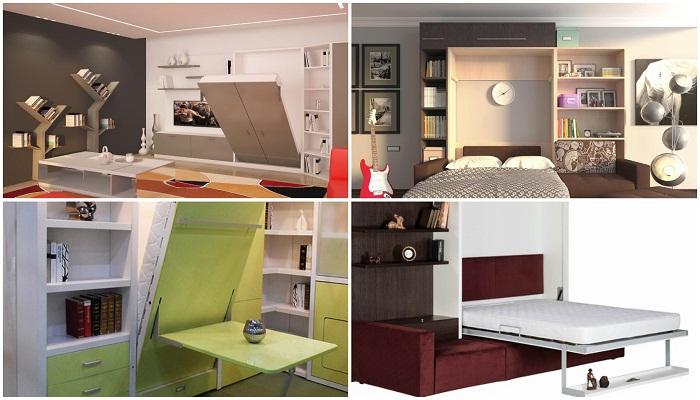 Смарт-мебель для гостиной или спальни.