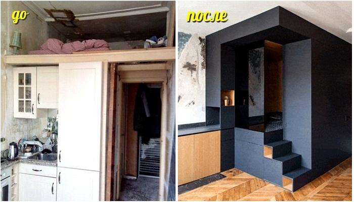 Дизайнерскому бюро Batiik Studio с помощью модуля удалось организовать полноценную спальню и преобразовать всю квартиру.