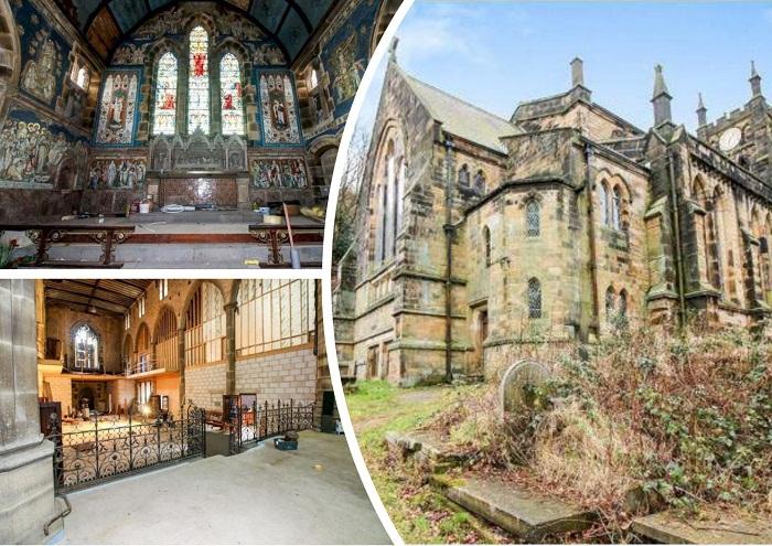 Готическая церковь XIX века в Западном Йоркшире (Великобритания).