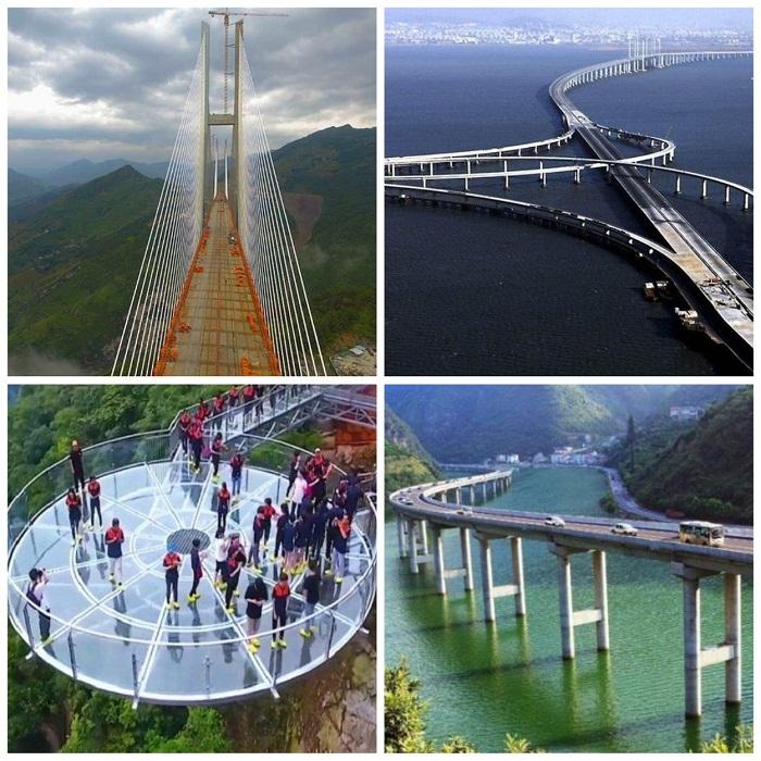 Эти мосты восхищают своей масштабностью и неординарностью.