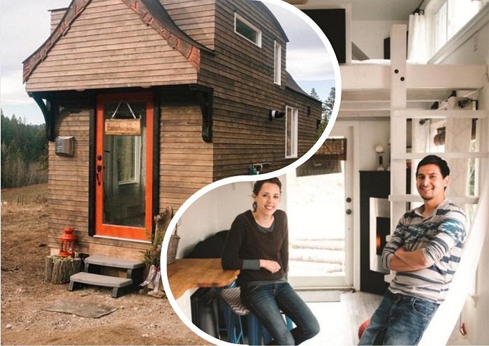 Маленький домик для путешествий и его создатели – Беттина и Роберт.