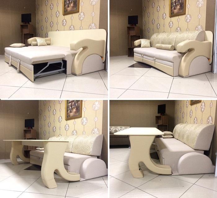 Имея такую  мебель, парочке влюбленных заранее нужно согласовывать график работы, приема пищи и сна. | Фото: mblx.ru.