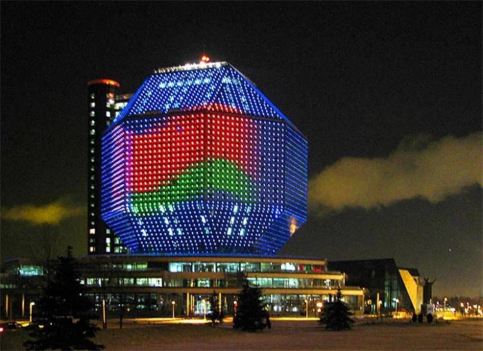 Здание Национальной библиотеки в Минске (Беларусь)| Фото: vilingstore.net.