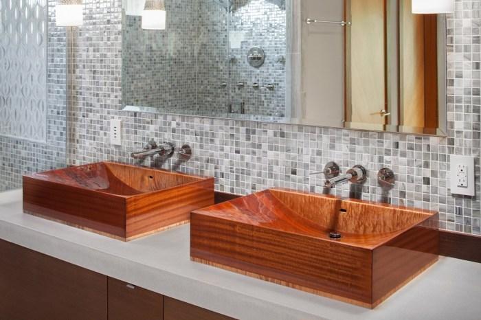 Уникальная сантехника из древесины станет украшением для ванной комнаты. | Фото: iconiclife.com.