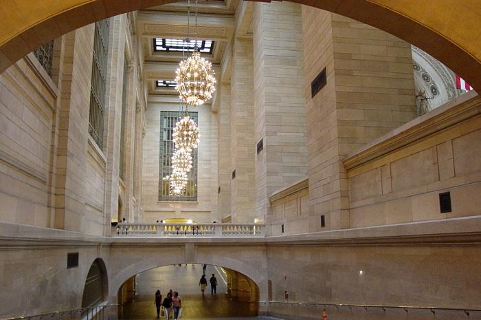 Роскошный интерьер вокзала Нью-Йорка.