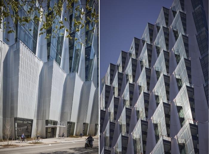 Листовидные выступы стали главным украшением небоскреба One Hundred tower (Сент-Луис, США).